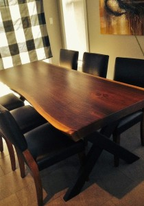 Table Live edges Noyer